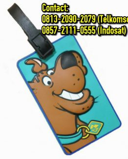 luggage tag karet custom