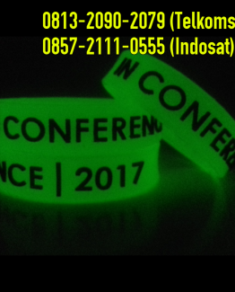 grosir gelang karet glow in the dark